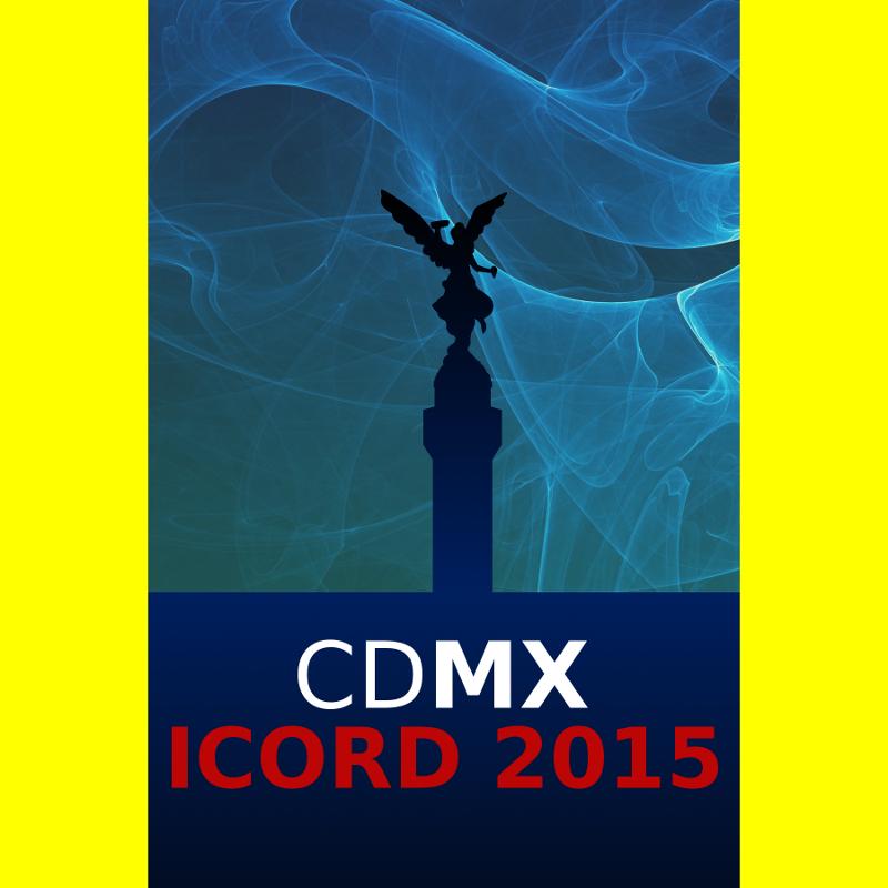 X Conferencia Internacional sobre Enfermedades Raras y Medicamentos Huérfanos (ICORD) en octubre 2015 dentro de la Semana de EERR en México, cartel de invitación