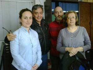 Con Catarina, Óscar y Neus, de FEDER Barcelona